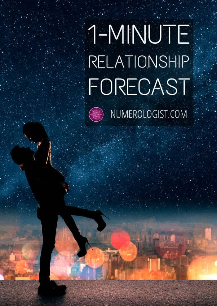 1-Minute Relationship Forecast - predict any relationship!